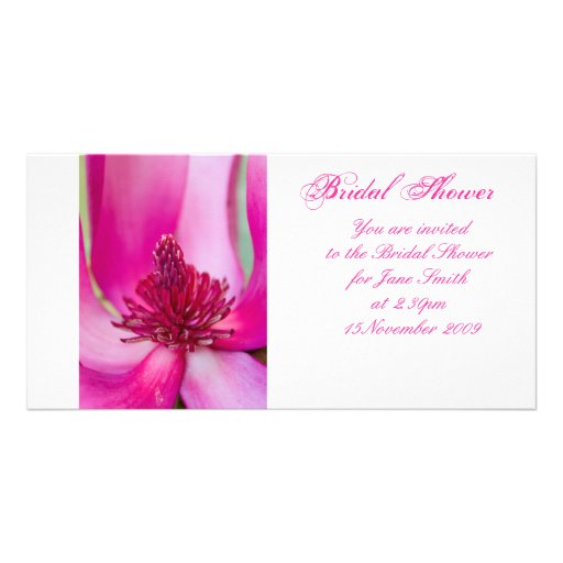Pink Magnolia - Bridal Shower Invitation Picture Card