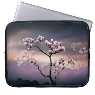Pink Magnolia (Dark Version)  Laptop Bag