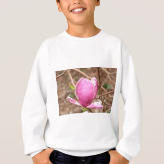 Pink Magnolia flower in bloom Sweatshirt