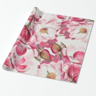 Pink Magnolia Gift Wrap