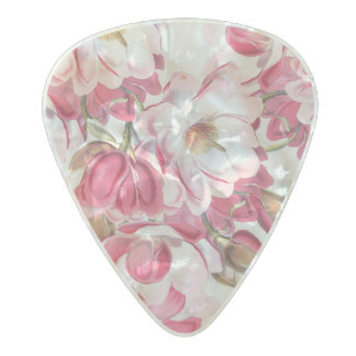 Pink Magnolia Guitar Pick