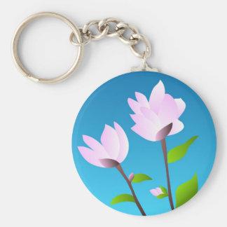 Pink magnolia - Keychain