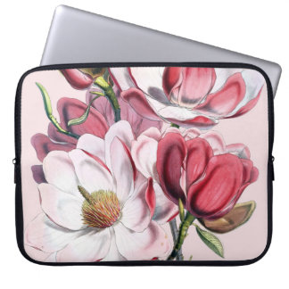 Pink Magnolia Laptop Computer Sleeves