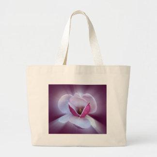 pink magnolia shades large tote bag