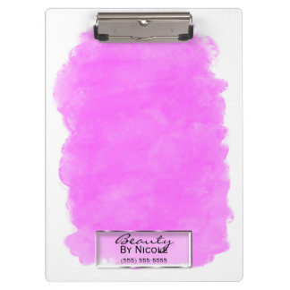 Pink Makeup Splotch Elegant Chic Glam Personalized Clipboard