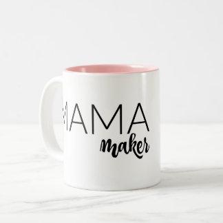 Pink Mama Maker Mug! Two-Tone Coffee Mug