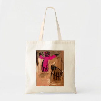 Pink Man and Dog by Johnny Tote Bag
