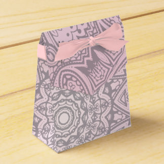 Pink Mandala Art Cosmic wedding Favor Box