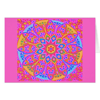 Pink Mandala Card