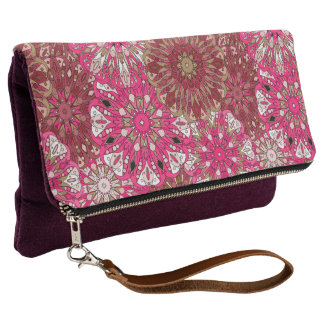 Pink mandala design | Indian motif Clutch