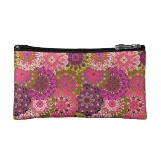 Pink mandala design | Indian motif Makeup Bag