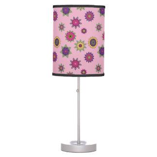 Pink Mandala Flowers Lamp