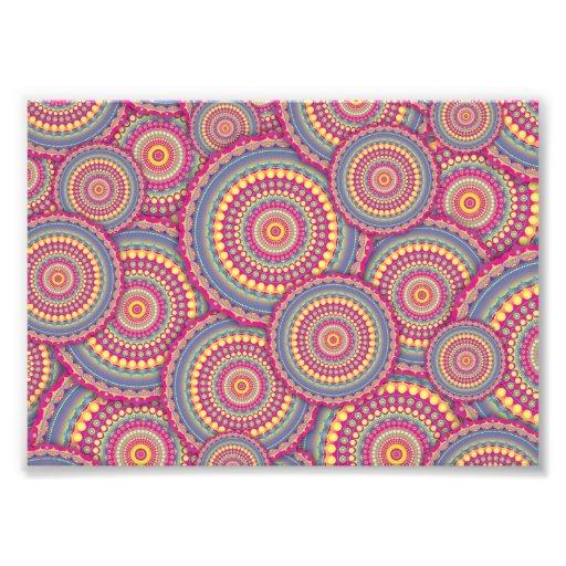 Pink Mandala Hippie Pattern Photo Art