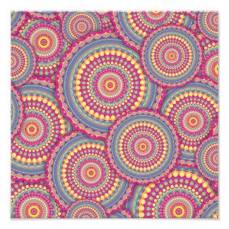 Pink Mandala Hippie Pattern Art Photo
