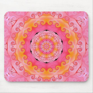 Pink mandala mouse pad