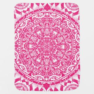 Pink mandala pattern baby blanket