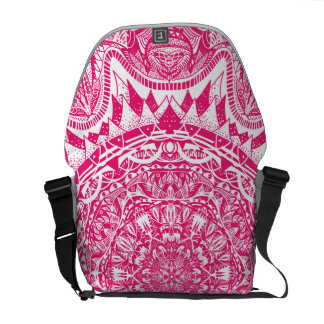 Pink mandala pattern courier bag