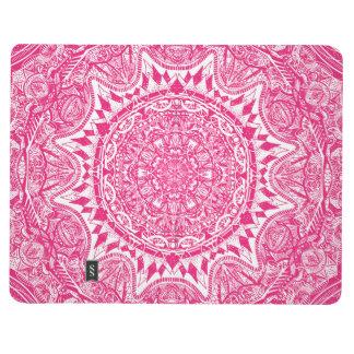 Pink mandala pattern journal