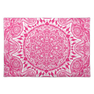 Pink mandala pattern placemat