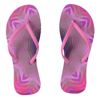 Pink Mandala Slim Straps Flip Flops