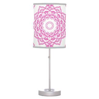 Pink Mandala Table Lamp