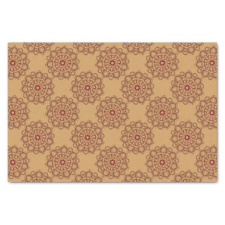pink mandala tissue paper