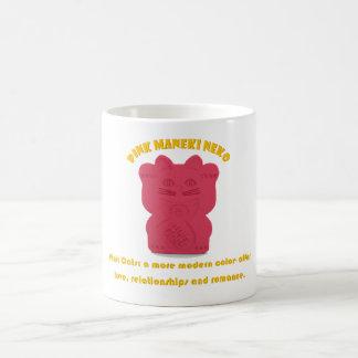 Pink Maneki Neko Both Paws Mug