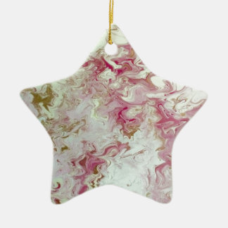 Pink Marble Ceramic Ornament