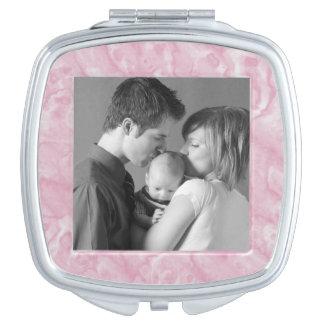 Pink Marble Custom Photo Vanity Mirrors