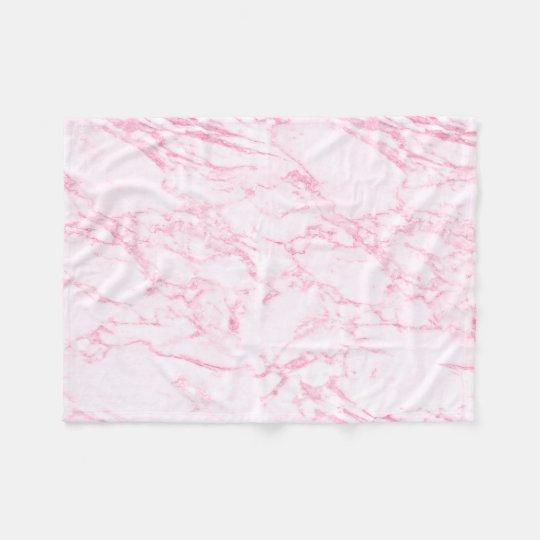 Pink Marble Fleece Blanket