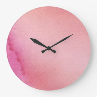 Pink Marble Large Clock