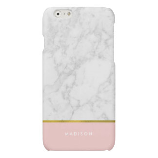 Pink Marble Pattern and Faux Gold Foil
