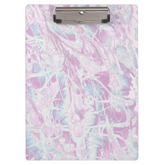 Pink Marble Pattern Clipboard