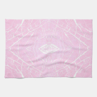 Pink marble pattern hand towels