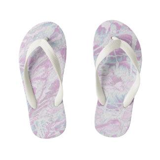 Pink Marble Pattern Kids Flip-Flop Kid's Flip Flops