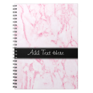 Pink  Marble Personalized Notebooks