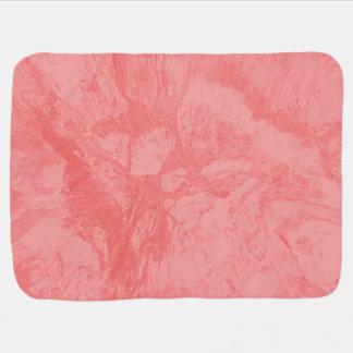 Pink Marble Splash Baby Blanket
