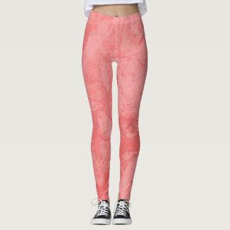 Pink Marble Splash Leggings