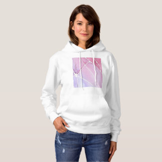 Pink Marble Watercolour Break Hoodie