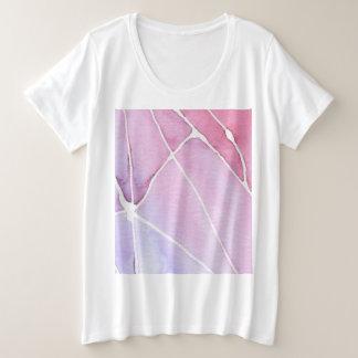 Pink Marble Watercolour Break Plus Size T-Shirt