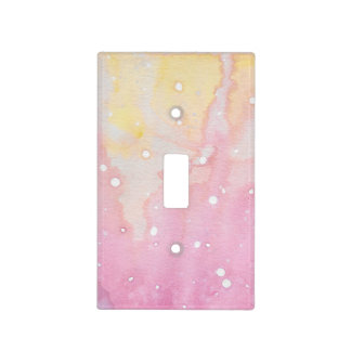 Pink Marble Watercolour Light Switch Cover