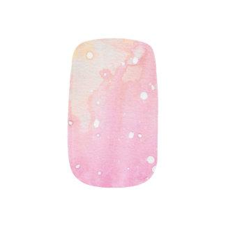 Pink Marble Watercolour Minx Nail Art