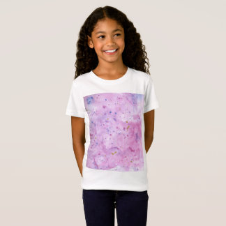 Pink Marble Watercolour Splat T-Shirt