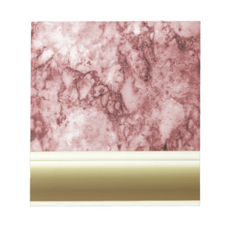 Pink Marble with golden stripes Notepad