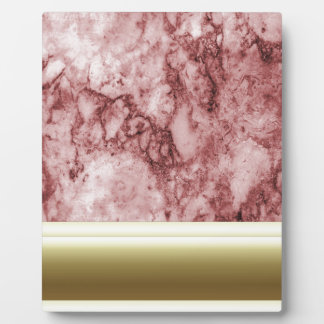Pink Marble with golden stripes Plaque