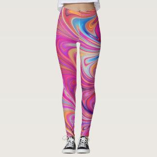 Pink Marbled Leggings