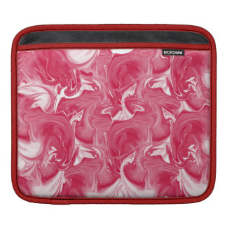 Pink marbled texture, rich ebru technique iPad sleeves