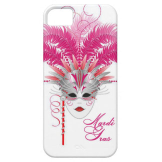 pink mardi gras mask iphone case