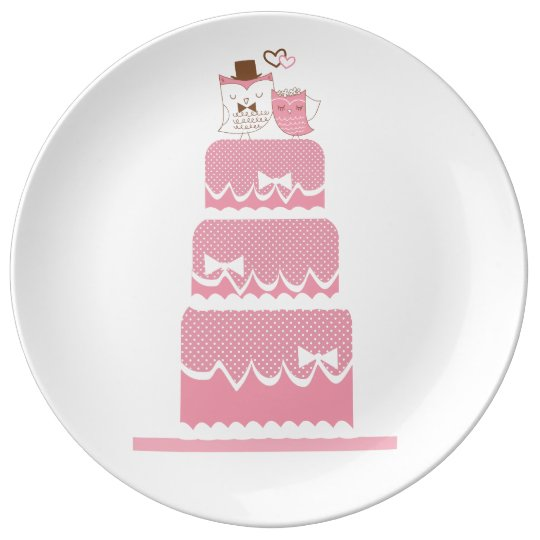Pink marriage porcelain plates
