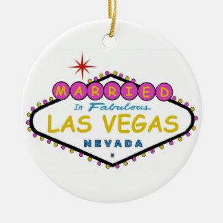 PINK Married in Las Vegas Ornament